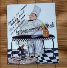 Fat Chef Wall Plaque Look Tomorrows Cook Bistro Decor