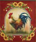 Dishwasher Magnet Country Red Rooster