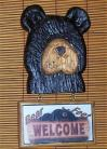 Bear Wall Plaque Bear Feet Welcome Sign Lodge Cabin New