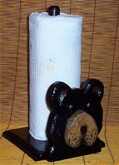 black bear kitchen accessories black paper towel holder cabin lodge kitchen decor ebay 4649